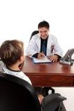 Doktor oder Therapeut mit Kind Stockfoto