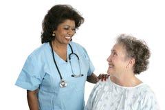 Doktor Patient Relationship Stockfotos