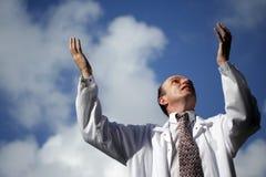 Doktor Playing God Stockfotografie