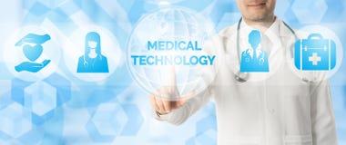 Doktor Points p? MEDICINSK TEKNOLOGI, medicinsk symbol royaltyfri illustrationer
