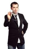 doktor pokazuje stetoskop Zdjęcie Stock