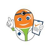 Doktor Recipe Cartoon Illustration för pillerminnestavlamedicin vektor illustrationer