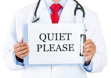 Doktor-ruhig bitte lizenzfreie stockbilder