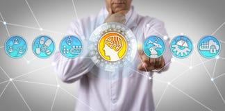 Doktor Of Science Initiating AI i tillverkning royaltyfri fotografi
