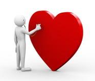 doktor som 3d kontrollerar hjärta med stetoskopet Arkivbild
