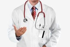 Doktor som ger rådgivning Arkivfoto