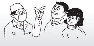 Doktor som ger rådgivning Arkivfoton