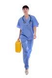 Doktor som rusar till nödlägelokalen Royaltyfri Bild