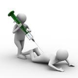 Doktor tut Einspritzung Patienten an lizenzfreie abbildung