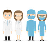 Doktor und Chirurg stock abbildung