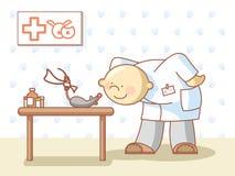 Doktor und eine Ratte Lizenzfreie Stockbilder