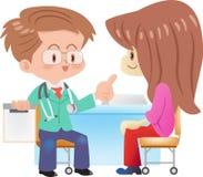 Doktor und Impfstoffe Lizenzfreie Stockbilder