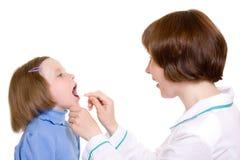 Doktor und Kind Stockbild