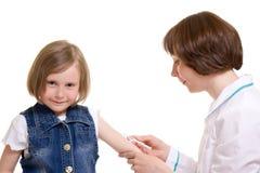 Doktor und Kind Stockfoto