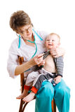 Doktor und Kind Stockfotografie