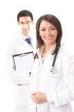Doktor und Kollege, getrennt lizenzfreie stockfotografie