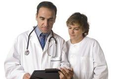 Doktor und Krankenschwester Stockbild