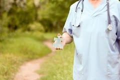 Doktor- und Naturkonzept DOKTOR KEEPING Lizenzfreies Stockbild