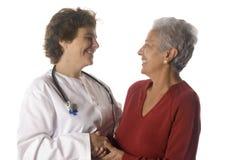 Doktor und Patient Stockfoto