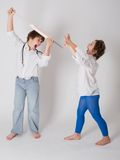 Doktor und Patient, childs Spiel Lizenzfreies Stockfoto