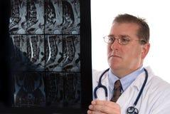 Doktor und Röntgenstrahl Lizenzfreie Stockfotografie