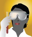 Doktor und Reagenzglas Lizenzfreie Stockbilder