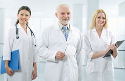 Doktor und Team Lizenzfreies Stockbild