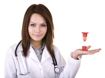 Doktor warnen, dass Zeit nicht anwesend beträgt. Stockbilder