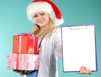 Doktor - Weihnachten Stockbild