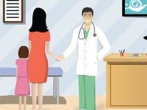 Doktor Welcoming Patient Arkivbilder