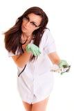 Doktora medyczny personel odizolowywający na białym tle zdjęcia stock