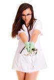 Doktora medyczny personel odizolowywający na białym tle obraz stock