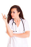 Doktora medyczny personel odizolowywający na białym tle zdjęcia royalty free