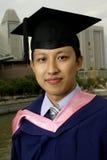 doktorand- asiat utomhus royaltyfria bilder