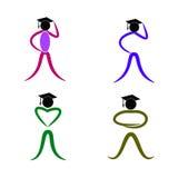 Doktorand- folk vektor illustrationer