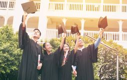 doktorand- gruppdeltagare royaltyfri fotografi