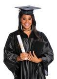 doktorand- holdingbarn för diplom Royaltyfri Bild