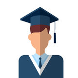 Doktorand Icon Graduation Gown stock illustrationer