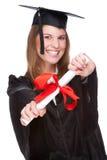 doktorand- kvinna Arkivbild