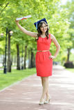doktorand- kvinnabarn Royaltyfria Bilder