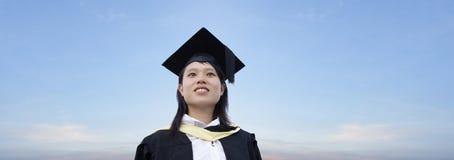 doktorand- lycklig lady för asiat fotografering för bildbyråer