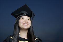 doktorand- lyckligt för asiat Arkivfoton