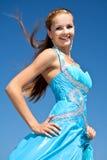 doktorand- lyckligt för klänning Royaltyfri Bild