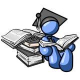 doktorand- man för blue Arkivfoton