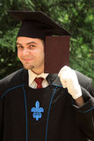 doktorand- manlig Arkivfoto