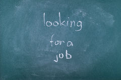 Doktorand- söka efter ett jobb Arkivbild