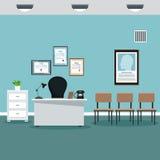 Doktorberufsbürokrankenhauszimmer Stockfoto