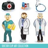 Doktorclip-Kunstsammlung Lizenzfreies Stockfoto