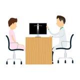 Doktordiagnosenpatienten medizinisch und Wissenschaft Lizenzfreie Stockfotos