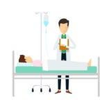 Doktordiagnosenpatienten medizinisch und Wissenschaft Lizenzfreies Stockfoto